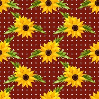 Bloemen naadloos patroon van zonnebloemen.