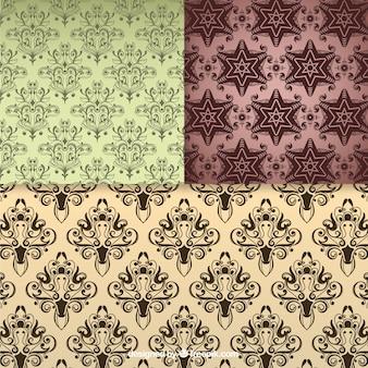 Bloemen naadloos patroon vintage achtergronden