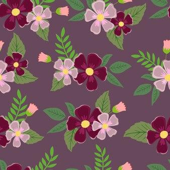 Bloemen naadloos patroonbehang