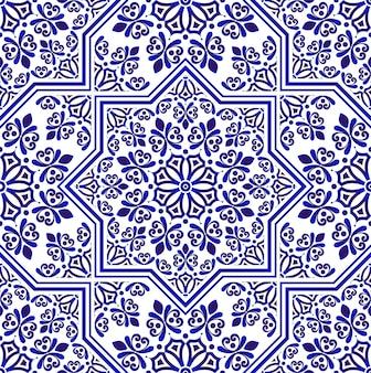 Bloemen naadloos patroonontwerp