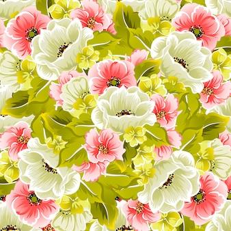 Bloemen naadloos vectorpatroon