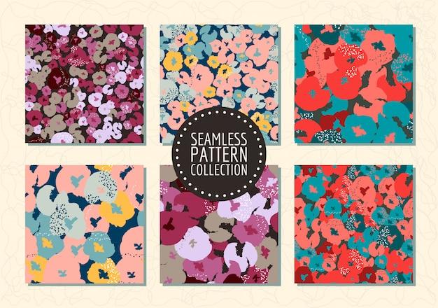 Bloemen naadloze patroneninzameling