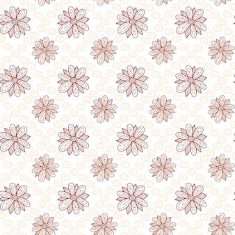 Bloemen naadloze patroonachtergrond