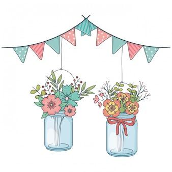 Bloemen natuur bloemen cartoon