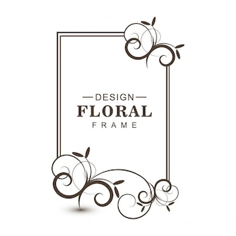 Bloemen ontwerp omlijsting