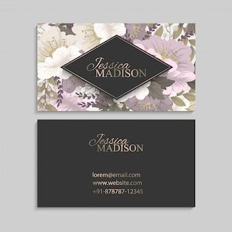 Bloemen ontwerpen rand - roze bloemen
