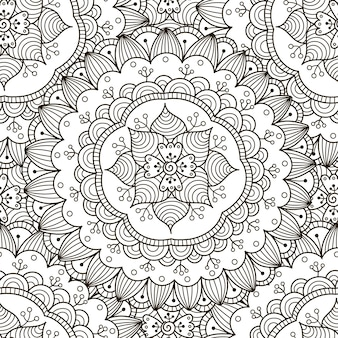 Bloemen ornament naadloos patroon