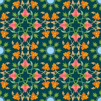 Bloemen ornament naadloze patroon.