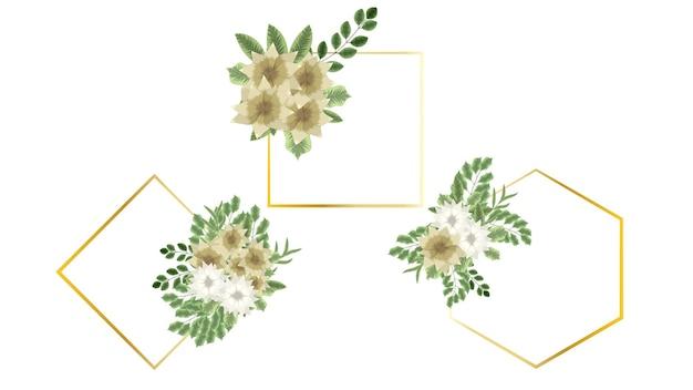 Bloemen ornament ontwerp uitnodiging of wenskaart voor bruiloft decor