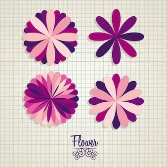 Bloemen pictogrammen