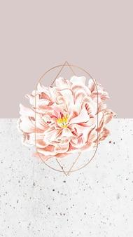 Bloemen pioen Gratis Vector