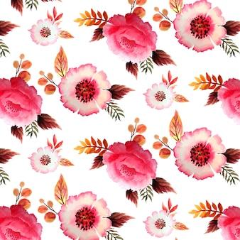 Bloemen roze naadloos patroon
