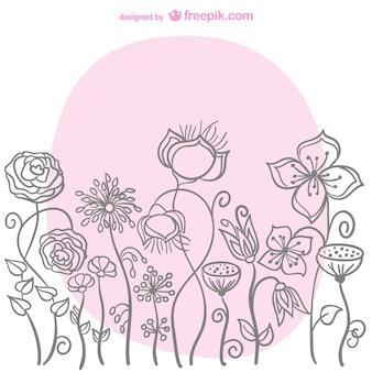 Bloemen schets vector