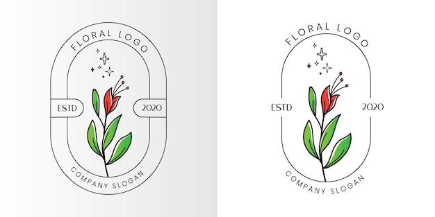 Bloemen schoonheid vrouwelijk logo voor schoonheidssalon spa en boetiek en cosmetische zaken