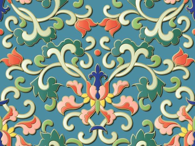 Bloemen sier naadloos patroon