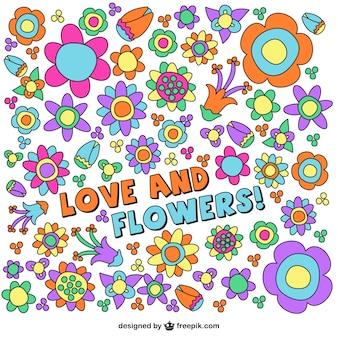 Bloemen tekening achtergrond