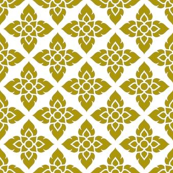 Bloemen thais patroon