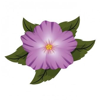 Bloemen tropische cartoon