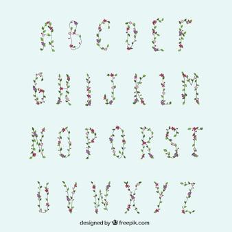 Bloemen typografie