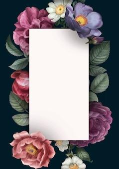 Bloemen uitnodigingskaart