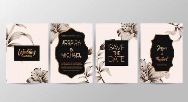 Bloemen uitnodigingskaarten