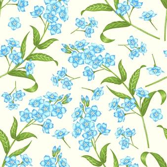 Bloemen uitstekend naadloos patroon