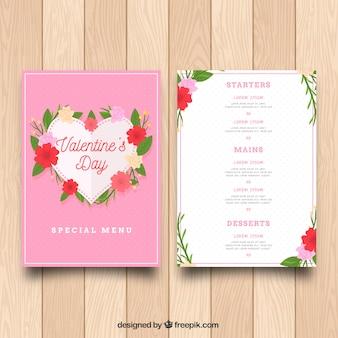 Bloemen valentijn-menu