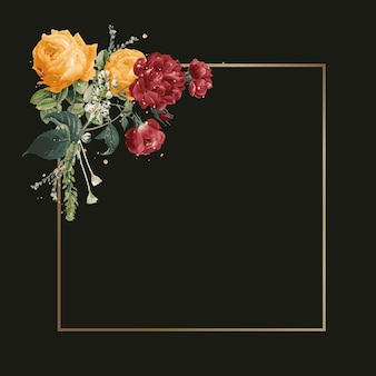 Bloemen versierd frame aquarel illustratie