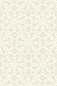 Bloemen versiering en hindoe henna naadloze patroon