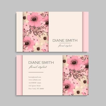 Bloemen visitekaartje ontwerp