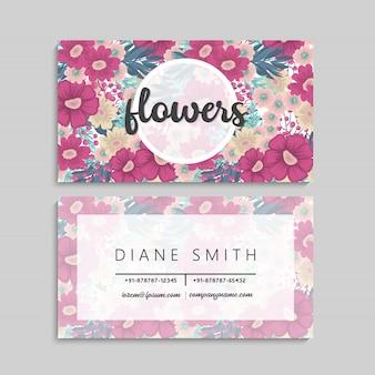 Bloemen visitekaartje
