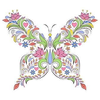 Bloemen vlinder