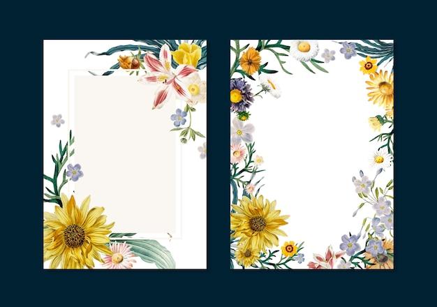Bloemen wenskaarten