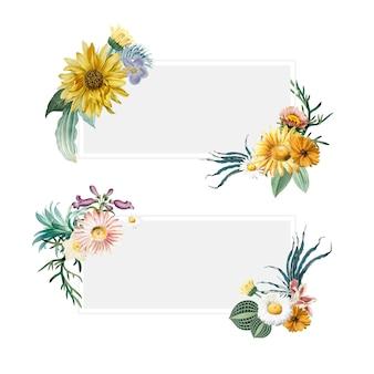 Bloemen zomer banners