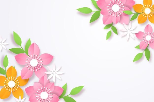 Bloemenachtergrond in papierstijl