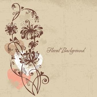 Bloemenachtergrond in retrostijl