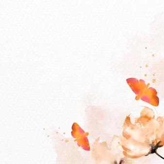 Bloemenachtergrond met aquarelstijl