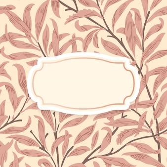 Bloemenachtergrond met gecentreerd sierkader