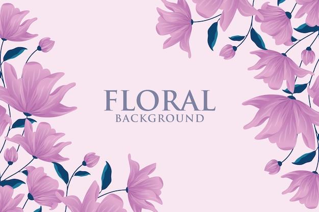 Bloemenachtergrond met lege ruimte