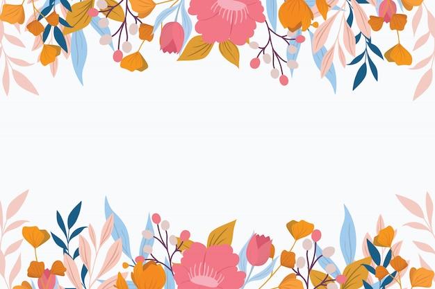 Bloemenachtergrond met pastelkleur