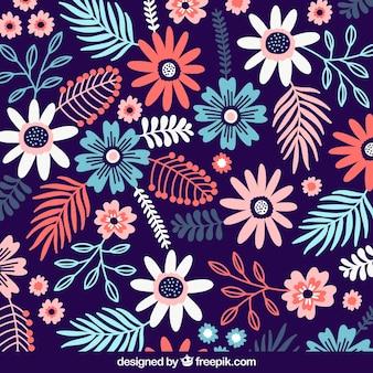 Bloemenachtergrond met verschillende soorten