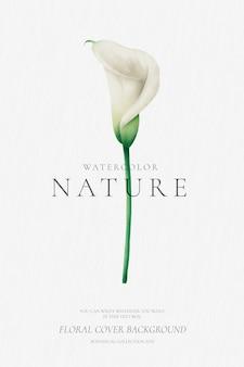 Bloemenachtergrond met waterverflelie