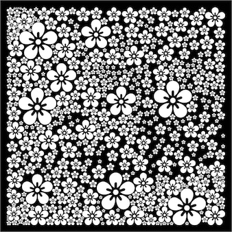Bloemenachtergrond voor bandana designs tafelkleed stoffen batik design inspiratie