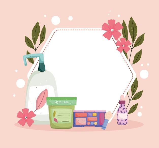 Bloemenbadge voor huidverzorgingsproducten