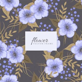 Bloemenboeket met bloemen en bladeren