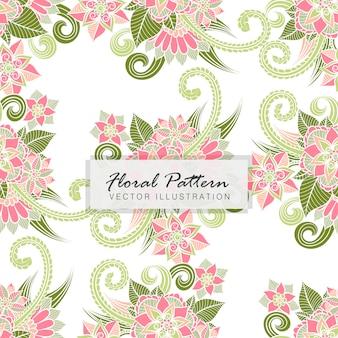 Bloemenboeket vectorpatroon