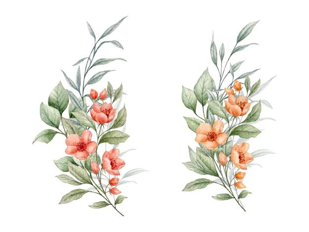 Bloemenboeketcollectie voor valentijnsdag kaart