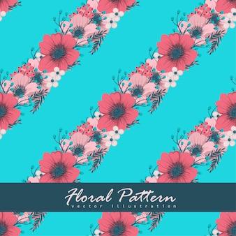 Bloemenboeketpatroon met bloemen en bladeren