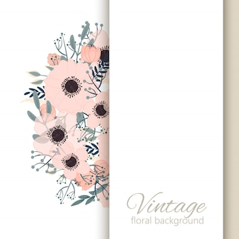 Bloemengrensachtergrond - roze bloemengrens