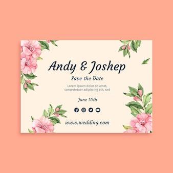 Bloemenhuwelijkskaart